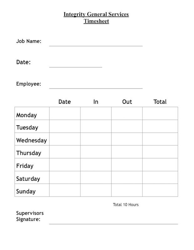Timesheet Single Employee